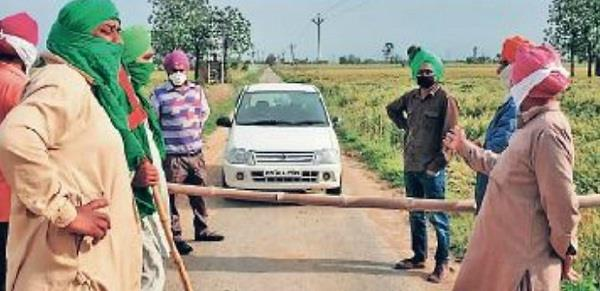 to avoid corona the people of this village of punjab sealed themselves