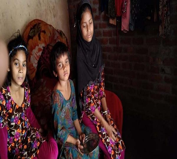 no help for 3 girls parents left bihar