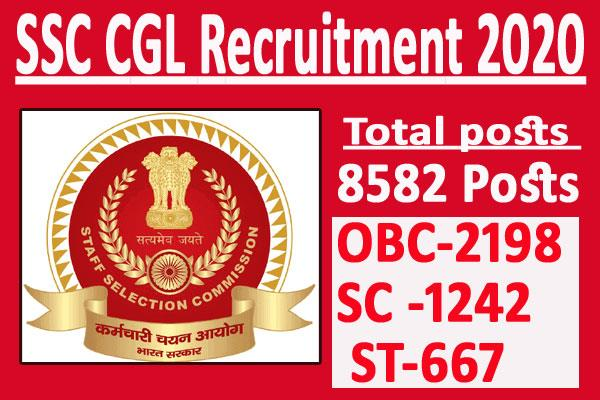 8582 posts declared in ssc cgl 2019 recruitment stenographer vacancies