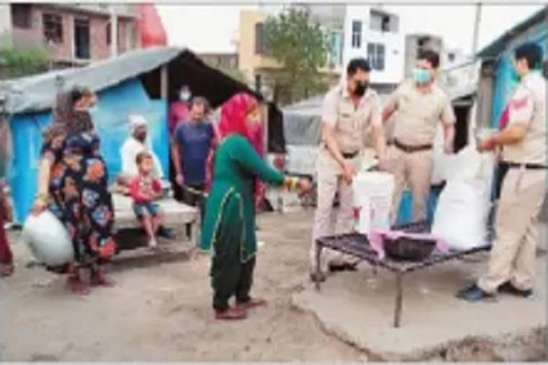 police came as the messiah for the poor distributed flour