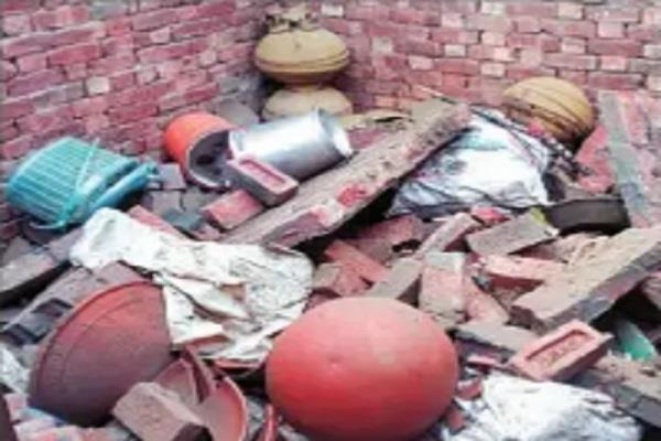 roof of house collapsed due to sky lightning 3 children injured
