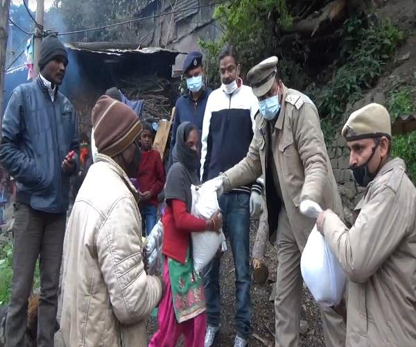 ration and clothing delivered to the poor