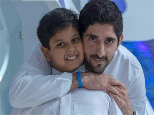 cancer stricken indian boy meets dubai crown prince