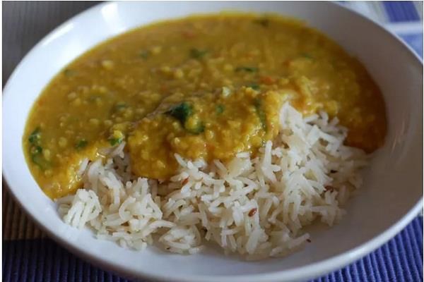 rice and lentils is the best food in the world