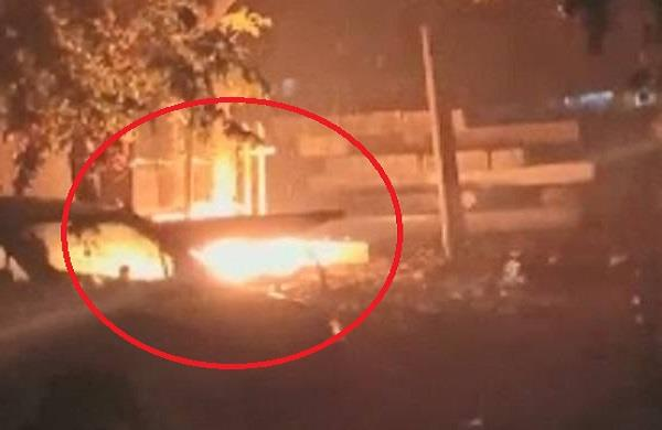 fireball fell from the sky during rain in ghaziabad
