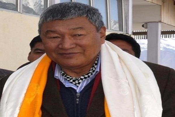union territory of ladakh command handed over to minister tsering dorje