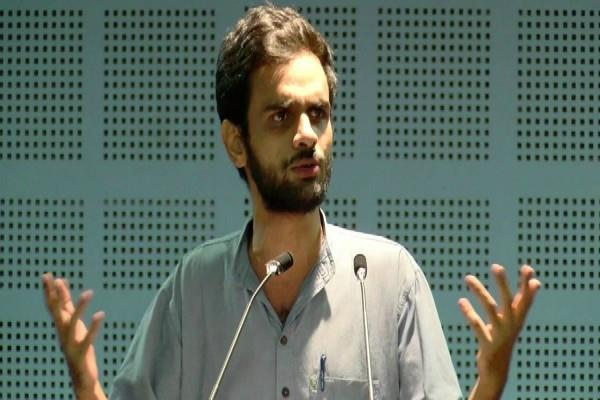 get on the road when trump comes umar khalid is seen provoking