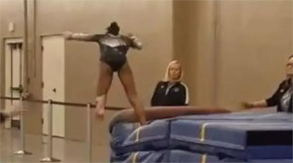 quick thinking coach saves gymnast from serious injury