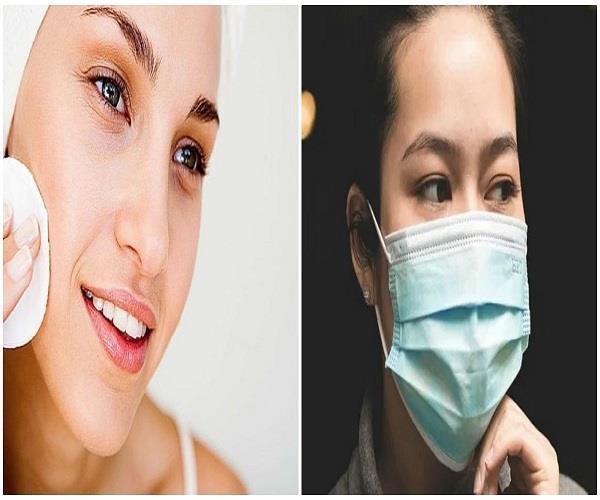 मास्क पहनने वाले लोग यूं रखें त्वचा का ध्यान