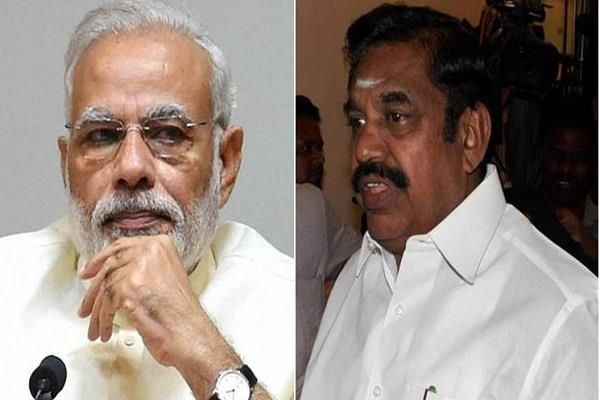 pm modi asked palaniswami to implement lockdown strictly