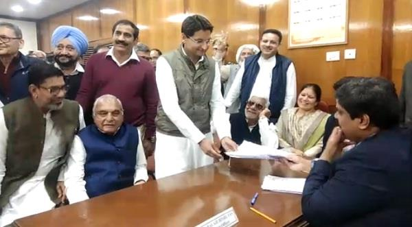 rajya sabha elections congress candidate dependra hooda filed nomination