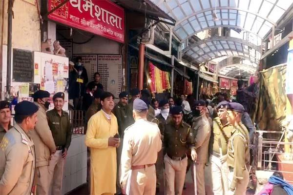 devotees of up clashed with administration in the temple of maa bajreshwari