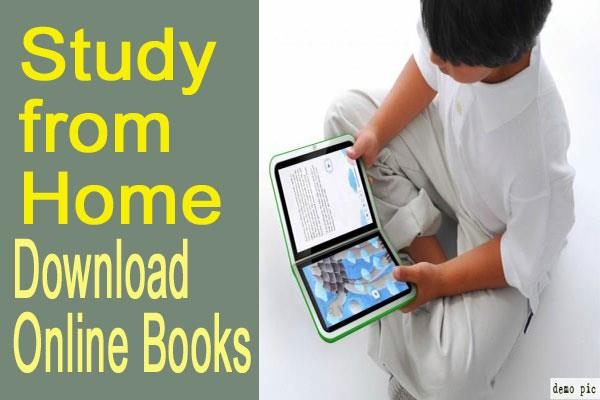 study from home students download books online