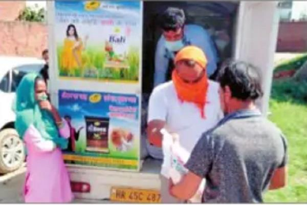 institutions distributed 150 ration kits and 4 000 food packets to the needy dc
