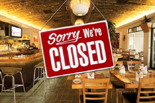 instructions to close all restaurants by 31 march