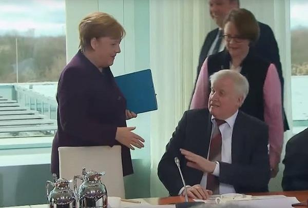 minister refuses to handshake with german chancellor