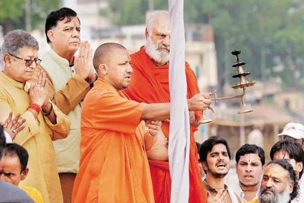 construction of temporary temple in ramlala cm yogi will prayers on march 25