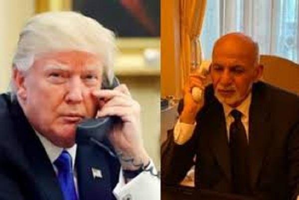 trump congratulates ashraf ghani on afghan peace process