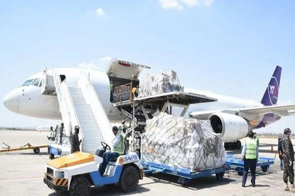 air india air force aircraft are transporting medical supplies