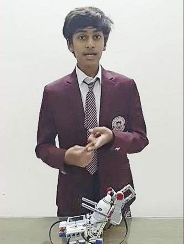 indian student creates robotic hand sanitiser in dubai