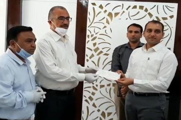 radha swami satsang ashram dinod gave rs 11 lakhs to corona relief fund