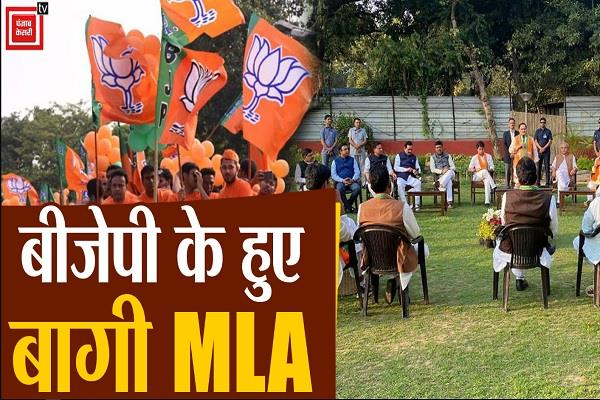 supporters scindia join 22 mla bjp jp nadda administered