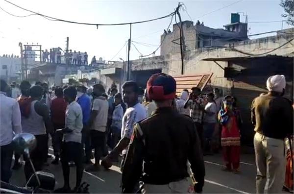 jalandhar lockdown uproar in chhota saipur over not getting ration