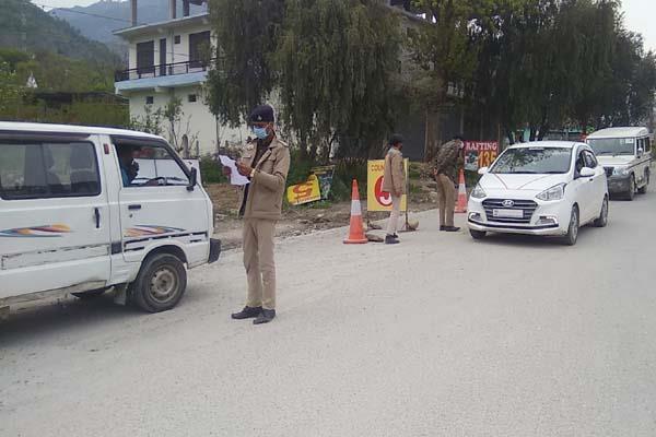 bhuntar bajaura police strictly