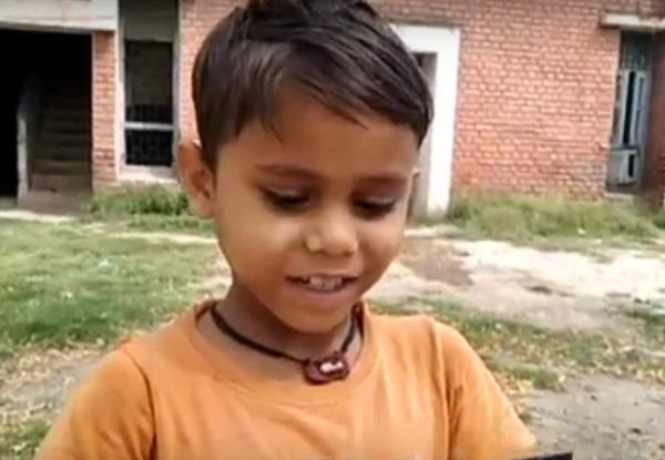 big message of 8 year old child to people on the road without work