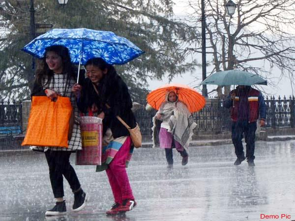 rain and hailstorm warning in himachal again