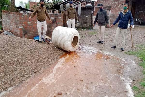 police taken big action against liquor mafia