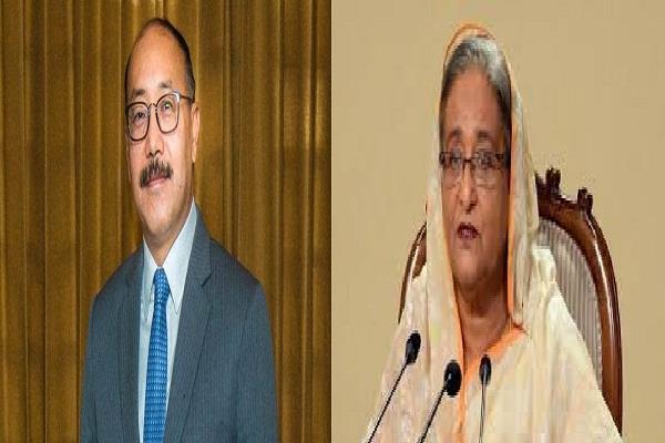 foreign secretary shringla meets bangladesh prime minister sheikh hasina