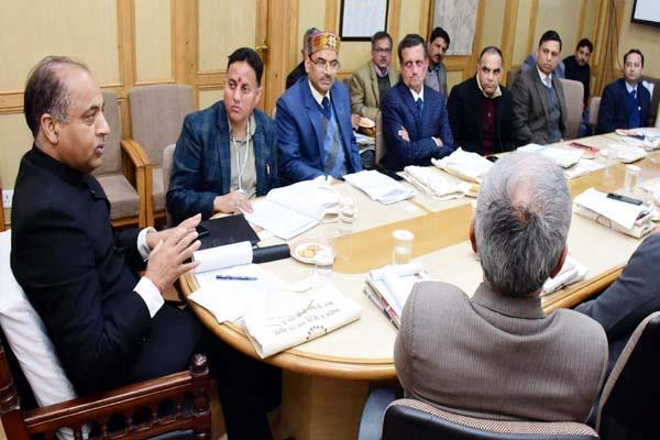cm jairam in meeting of state disaster management authority