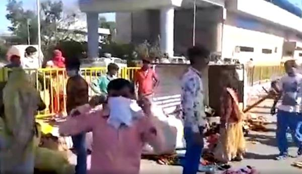 van full of laborers going to mp from delhi overturned 9 injured in haryana