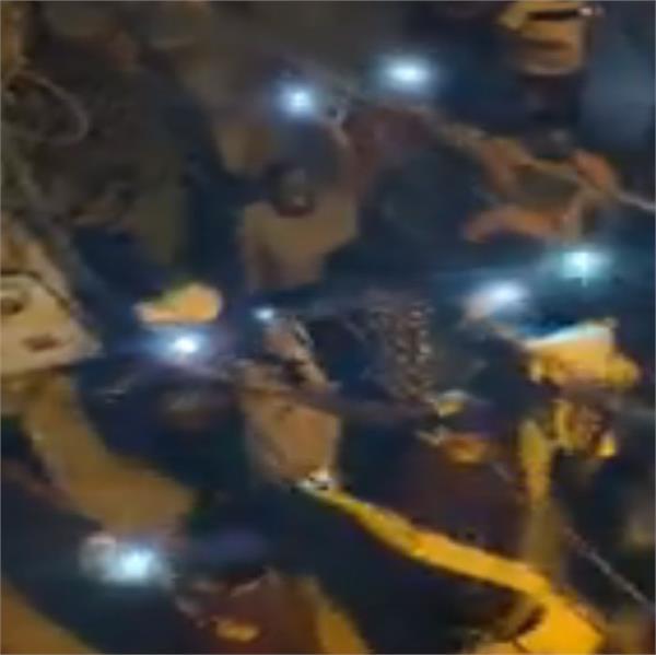 people fired firecrackers on pm modi s plea for diya