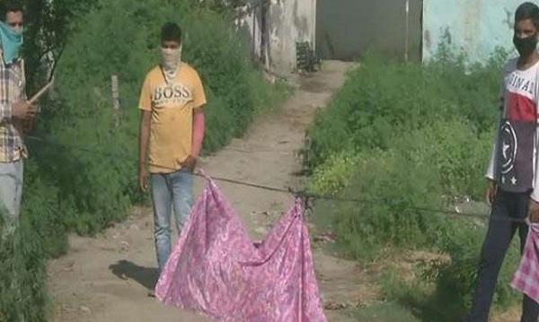 village sealed due to corona virus