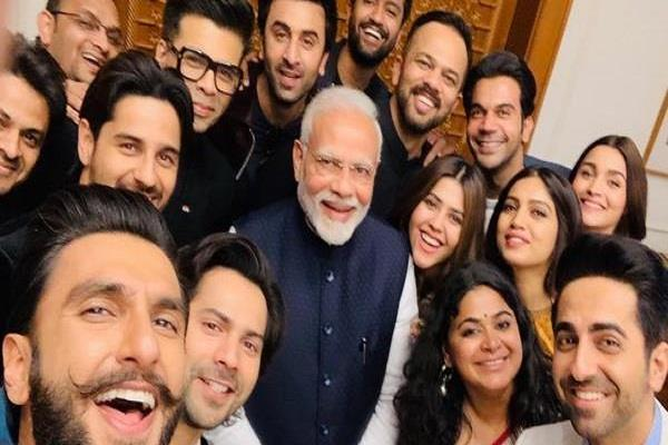 pm modi praised for the initiative of film industry