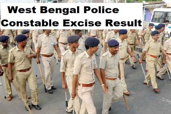 west bengal police constable excise result released