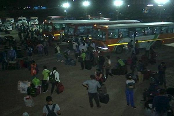 18 000 students from 5 states return home