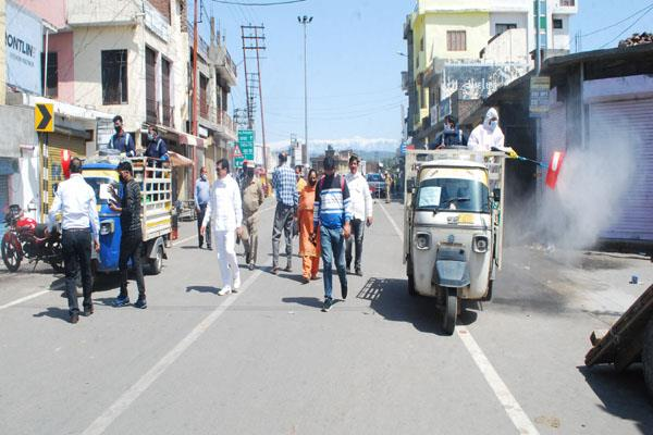 sanitize process conitnue in kathua