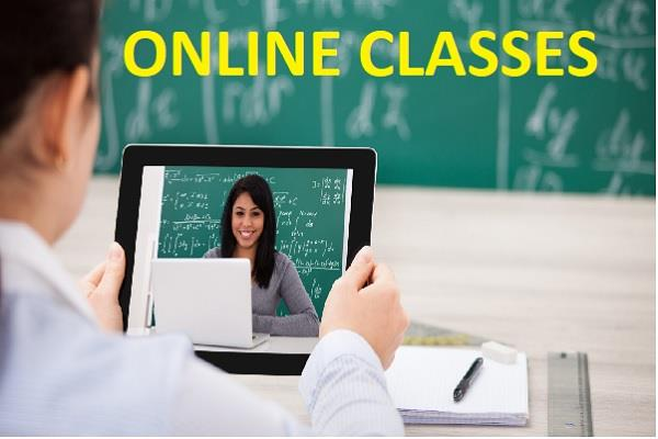 corona virus  online class for children started in schools