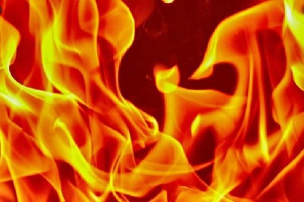 terrible fire in ludhiana during curfew