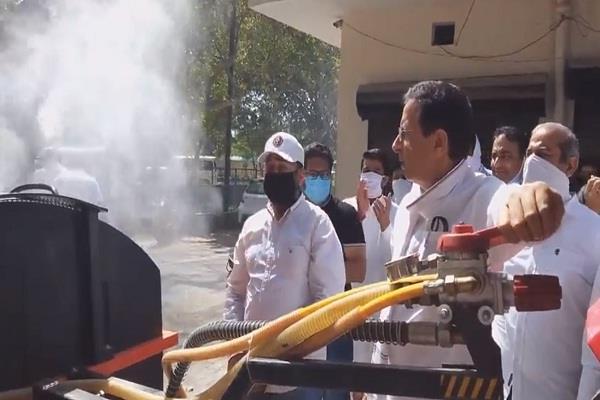haryana news this new machine in haryana sanitizes the city