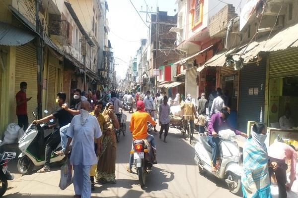 छतरपुर: लॉकडाउन में छूट का मंजर ...