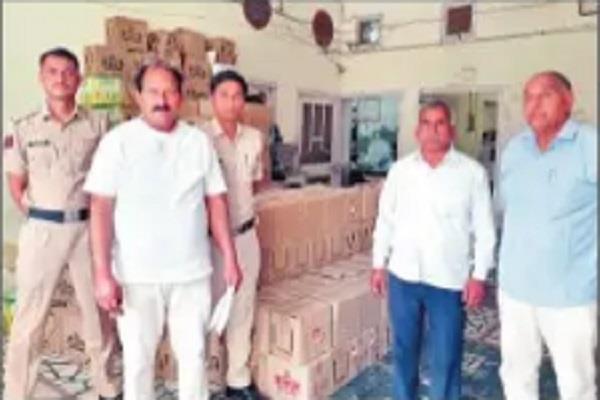 600 bottles of liquor caught in village khark pandwa during lockdown