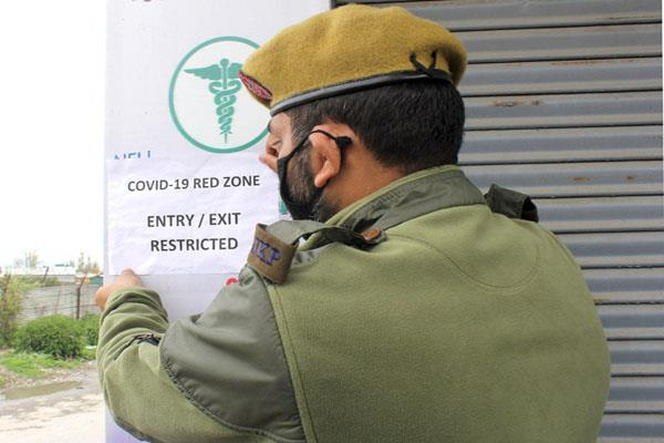 13 areas of srinagar are declared red zone