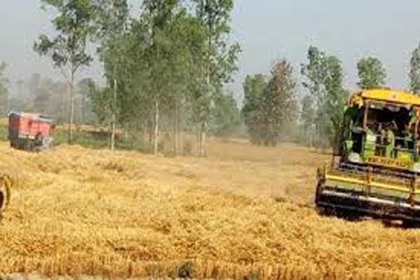 combine machines reached jammu harvesting starts