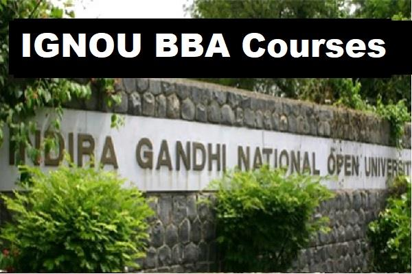 ignou bba indira gandhi national open university bba course