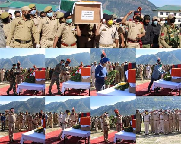 homage paid to martyr spo in kishtwar dpl
