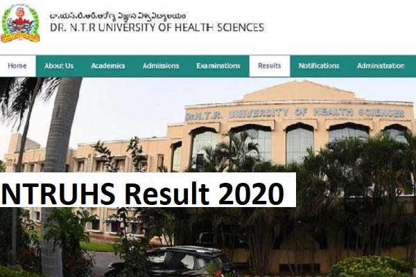 ntruhs result 2020 ug  pg exam results declared